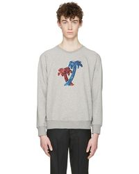 Marc Jacobs - Grey Palm Trees Pullover - Lyst
