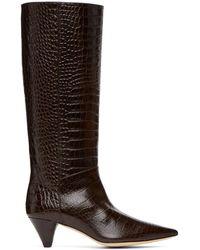 JOSEPH Brown Croc Mid-calf Boots