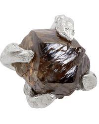 Pearls Before Swine - Silver Raw Black Diamond Stud Earring - Lyst
