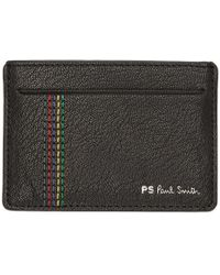 PS by Paul Smith - Black Stripe Stitch Card Holder - Lyst