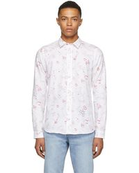 PS by Paul Smith - White And Red Sketches Tailored Shirt - Lyst