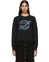Rag & Bone - Black Outer Space Sweatshirt - Lyst