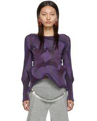 Issey Miyake Purple Corona Blouse
