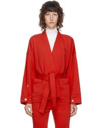 Pushbutton - Ssense 限定 レッド Kimono ジャケット - Lyst