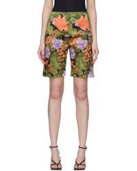Richard Quinn Short fleuri multicolore