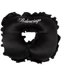 Balenciaga ブラック シルク トラベル ピロー