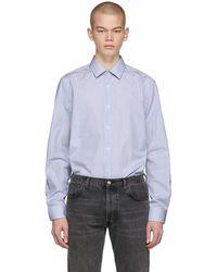 BOSS - Blue T-charlie Striped Shirt - Lyst