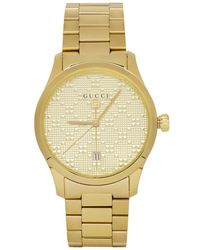 Gucci - Gold Pyramid Iconic G-timeless Watch - Lyst