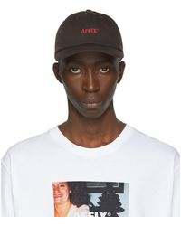 Affix ブラウン ロゴ キャップ