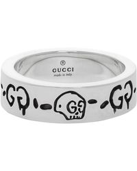 Gucci Silver G Ghost Ring - Metallic