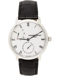 Frederique Constant シルバー & ブラック Slimline Manufacture パワー リザーブ 腕時計 - メタリック