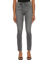 Goldsign Jean gris 'The High-Rise Slim'