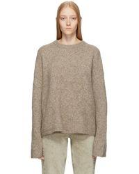 promo code 2e6de 11d56 Totême Grey Cashmere Verona Sweater in Gray - Lyst