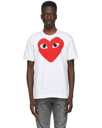 COMME DES GARÇONS PLAY ホワイト Big Heart T シャツ