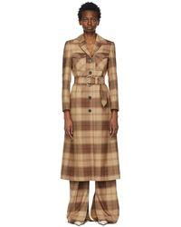 Kwaidan Editions Brown Plaid Coat