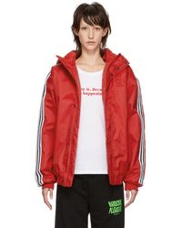 adidas Originals - Red Sst Stadion Jacket - Lyst