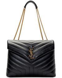 Saint Laurent - Black Medium Loulou Bag - Lyst