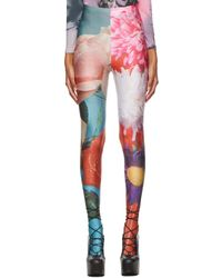 Chopova Lowena Legging à imprimé fleuri - Multicolore