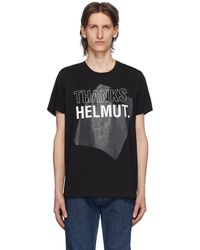 Helmut Lang - ブラック Thanks スタンダード T シャツ - Lyst