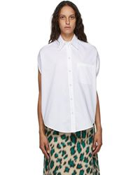 MM6 by Maison Martin Margiela - White Circle Shirt - Lyst