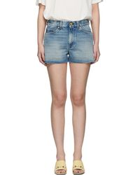 Gucci Blue Denim Strawberry Shorts