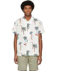 PS by Paul Smith - White Palm Tree Short Sleeve Shirt - Lyst