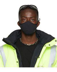 Balenciaga Black Nylon Logo Face Mask