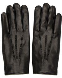 Dolce & Gabbana ブラック カシミア ライニング グローブ