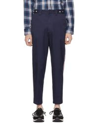 DIESEL - Blue P Tucs Tape Chino Trousers - Lyst