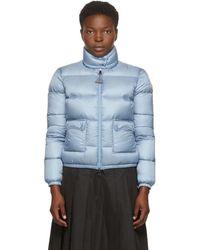Moncler Lannic Down Puffer Coat - Blue
