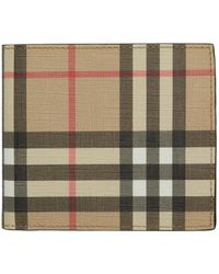 Burberry Beige Vintage Check International Bifold Wallet - Multicolour