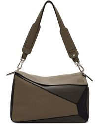 Loewe - Taupe Xl Puzzle Bag - Lyst