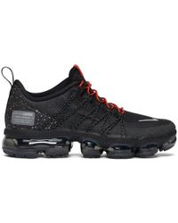 Nike - Black And Red Air Vapormax Run Utility Sneakers - Lyst