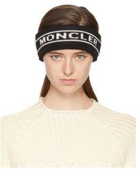 Moncler - Black Intarsia Logo Headband - Lyst