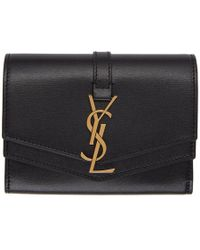 Saint Laurent Black Small Sulpice Wallet