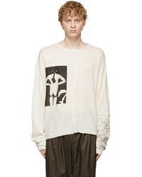 Enfants Riches Deprimes Off-white Untitled Artist & Model Long Sleeve T-shirt