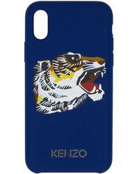 KENZO - Blue Tiger Head Iphone X Case - Lyst