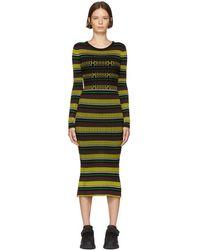 Opening Ceremony - Black Striped Knit Dress - Lyst