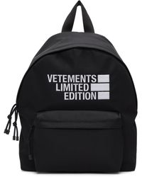 Vetements Black 'limited Edition' Backpack