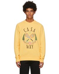 CASABLANCA イエロー Casa Way Tennis Club スウェットシャツ