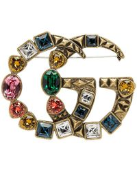 Gucci - Gold Marmont Brooch - Lyst