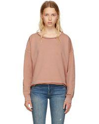 AMO - Pink Boxy Sweatshirt - Lyst