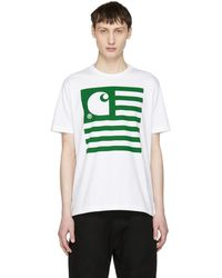Junya Watanabe - White Carhartt Edition Logo T-shirt - Lyst