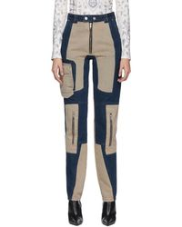 GmbH Navy And Beige Patchwork Antje Jeans - Blue
