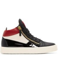 84f78cbc7ac Lyst - Giuseppe Zanotti May London Leather High-Top Sneakers in ...