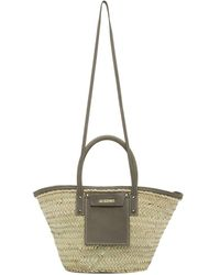 Jacquemus Beige And Gray Le Panier Soleil Tote