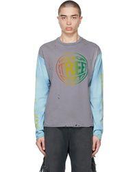 Alchemist T-shirt à manches longues No Summer gris et bleu édition Vision Streetwear