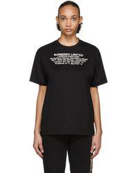 Burberry Black Carrick Horseferry House T-shirt