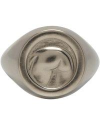 Ludovic de Saint Sernin Silver Bottom Ring - Metallic