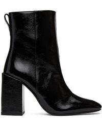 AMI ブラック Heeled Ankle ブーツ